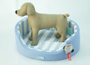 冷感ベッド青中犬